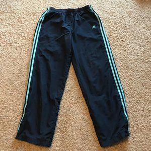 Adidas Workout Pants Zipper Ankles Size Large